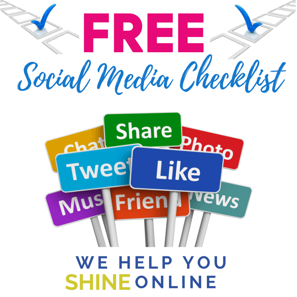 Free checklist for social media from tammysoffices