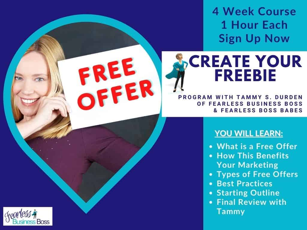 Create Your Freebie - free offer