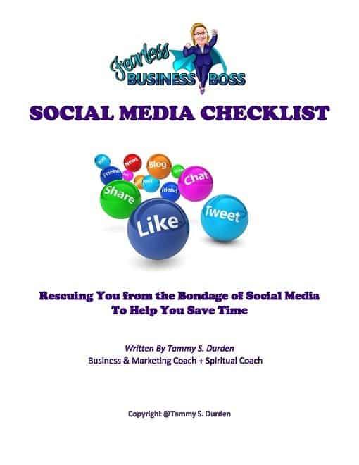 Social Media Checklist by Fearless Business Boss